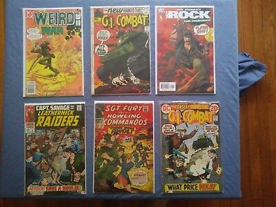 Lot of 9 Vintage WAR COMICS Sgt Fury #42 Sgt Rock #1 The Prophecy 1960s 1970s DC