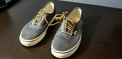 7b7a45dba02f VANS FOR J.CREW Washed Canvas Authentic Sneakers Size 8 NAVY ...