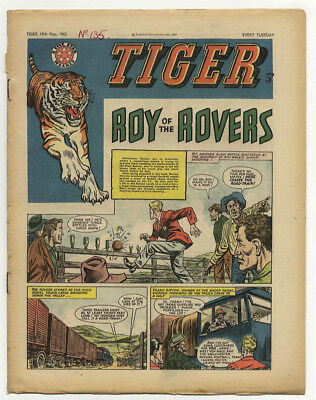 Tiger 19th May 1962 (Olac the Gladiator, Roy of the Rovers, Jet-Ace Logan)