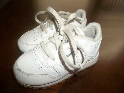 7582f31bc05b Reebok Classic Leather Toddler White Walking Casual Tennis Shoes Size 5