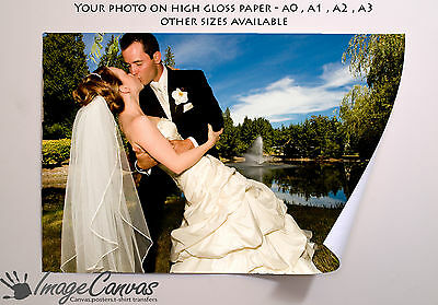 Your IMAGE ART PHOTO Personalised Custom Poster Print A0 A1 A2 A3