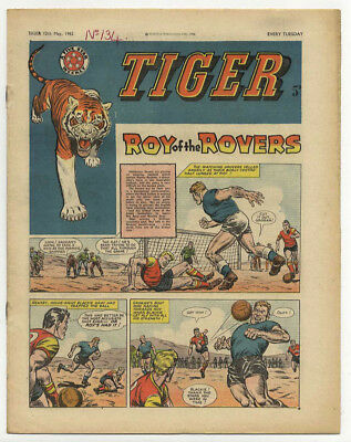 Tiger 5th May 1962 (Olac the Gladiator, Roy of the Rovers, Jet-Ace Logan)
