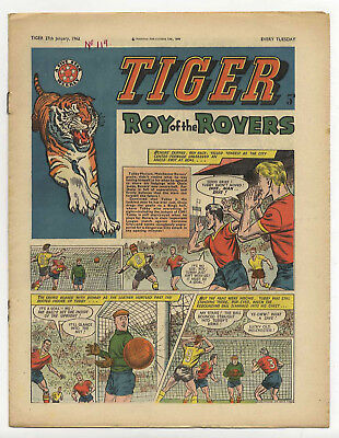 Tiger 27th Jan 1962 (Olac the Gladiator, Roy of the Rovers, Jet-Ace Logan)