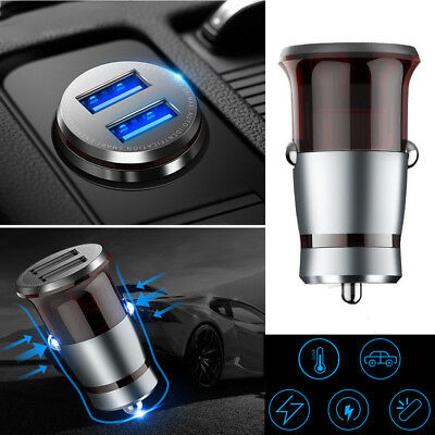 3.1A Dual USB Car Charger Adapter 2 Port LCD Display Cigarette Socket Accessory