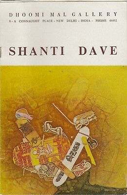 Shanti Dave Artist Exhibition Booklet Dhoomi Mal Gallery New Delhi India
