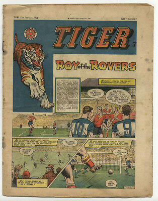 Tiger 17th Feb 1962 (Olac the Gladiator, Roy of the Rovers, Jet-Ace Logan)