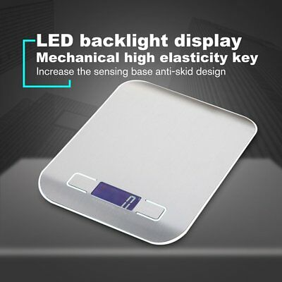 HT-2012 5000g/1g Stainless Steel Electronic LCD display Food Digital Scale JY