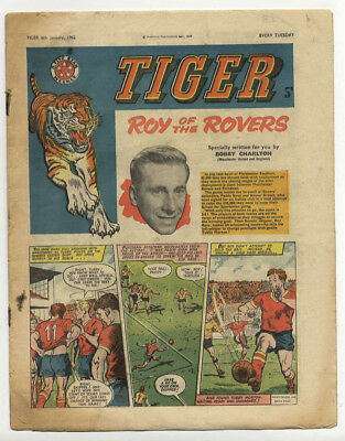 Tiger 6th Jan 1962 (Olac the Gladiator, Roy of the Rovers, Jet-Ace Logan)