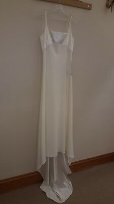 Vintage Victoria Jane for Ronald Joyce Ivory Wedding gown size 14 simple