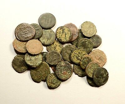 Lot Of 30 Imperial Roman Bronze Coins For Identifying - Low Quality - 06