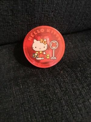 New NWT Vintage Red Hello Kitty Bus Stop Pencil Sharpener Sanrio