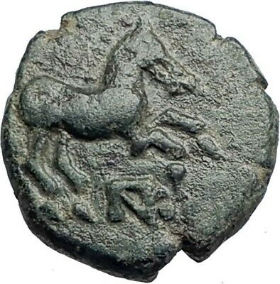 MARONEIA Thrace 400BC Authentic Ancient Greek Coin w HORSE & WINE GRAPES i74150