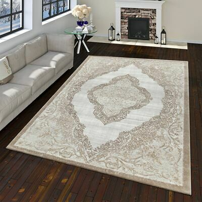 Modern Oriental Rug Vintage Look With Classic Ornaments In Gold Grey