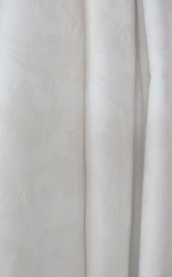"""EXTRA WIDE Bespoke MTM Curtains 214""""wX57""""d Cream HEAVY Damask& Laura Ashley Ties"""