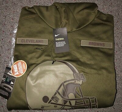 CLEVELAND BROWNS Salute to Service Therma Fit Hoodie 2018 Nike Military STS 4181701a7