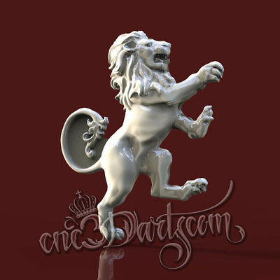 3D Model STL for CNC Router Artcam Aspire Knight Lion Decor Panel Cut3D Vcarve