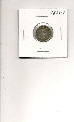 1856-P 90% Silver Seated Liberty Dime Coin!
