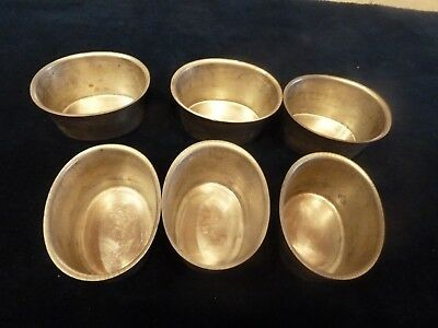 Six Timbale Molds Made in France