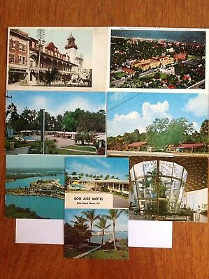 7-card lot~FL~Ocala~Bal Harbour~Ruskin~Motel~Quality Inn~Bahia~Hotel~Palm Beach