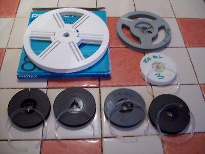 Cine Film Reels Seven In Total Various Sizes, Five Compete With Retaining Clips