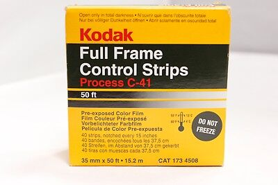 Kodak Film C-41 Full Frame Control Strips Process Pre-exposed color 35mm 50ft