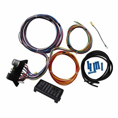 12 Circuit Universal Wiring Harness For Muscle Car Hot Rod Street Rod XL Wires Q