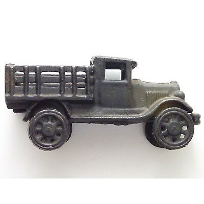 Vintage Cast Iron Black Ford Model T Farm Delivery Truck