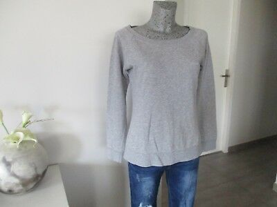 Gris Mode Uni M 40 Sweat Top Haut Taille Shirt 38 Femme Polo Pull FqwWqEH7n
