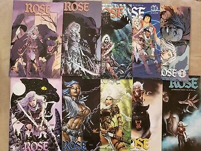 Lot Of 10 Rose Comic Books Finch Image 2016 VF/NM Variants 1 1 2 3 4 5 6 7 8 9