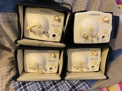 Lot With 4 Medela Breast Pump Motors Only