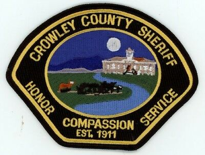 Crowley County Sheriff Colorado Co Patch Police Colorful