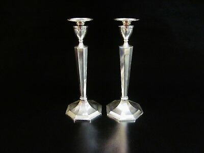 Fine Pair of Art Deco English  Sterling Silver Candelabra /candle holder.845.5 g