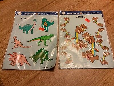 Vtg 1989 Decoral Handpainted Waterslide Decals Clowns  A-104 New Old Stock