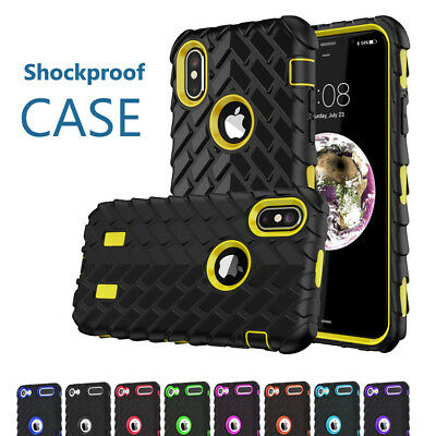 Case For iPhone 8 Plus 7 6s 5 X Armor Accessory Heavy Duty Rugged Rubber Cover