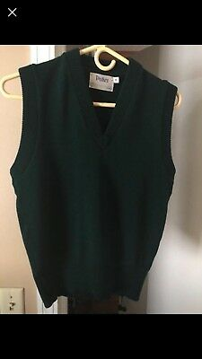 Parker Green Sweater Vest Youth Lg
