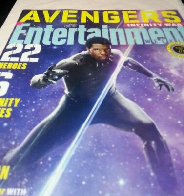 Black Panther Entertainment Weekly Magazine March 2018 Avengers Infinity War New