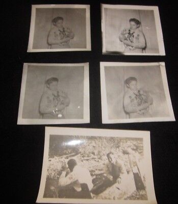 Lot of vintage black and & white Boy Scouts photos photo scout uniform old rare