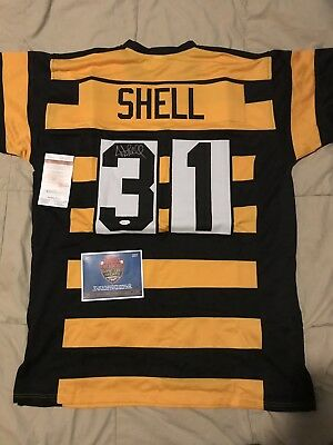 70c7cdec1e2 Donnie Shell Bumble Bee Autographed Jersey Pittsburgh Steelers JSA COA