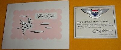 Your Future Metal Pilot Wings And Providance Letter 1951 United Airlines New