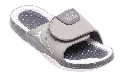 a74210132 MEN S JORDAN HYDRO XI RETRO AA1336-004 Medium Grey White Slide Sandals Size  8