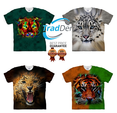 New 3D T-Shirt Tiger Panther Animal Best Quality Cat Full Print Cheetah Leopard