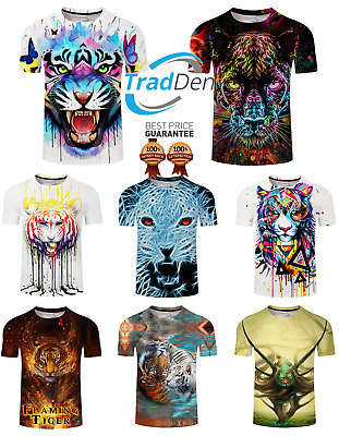 New 3D T-Shirt Tiger Panther Animal Best Quality Cat Nature Beutiful Print Trip