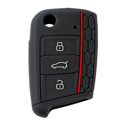 Silicone Car Key Cover Case Flip Key Cap Remote control for Volkswagen Golf 7 KG