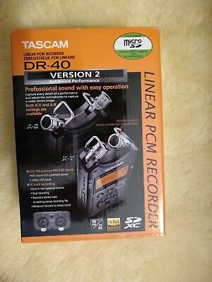 TASCAM DR-40 - Version 2 - Portable Audio Recorder / New in Sealed Box