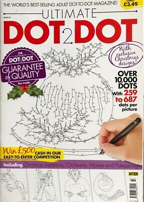 ULTIMATE DOT TO DOT - ISSUE 17:  Adult Dot2Dot Colouring Book - New