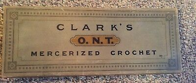 Vintage Antique Early Old Sewing Box Clark's Ont Mercerized Crochet Cotton Full