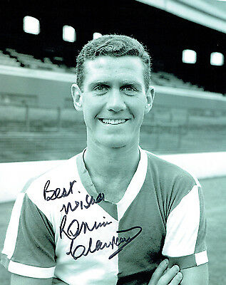 Ronnie CLAYTON SIGNED Blackburn Rovers Legend 10x8 RARE Photo AFTAL COA