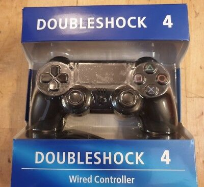 Doubleshock 4 - Wired Controller Black (New & Sealed)