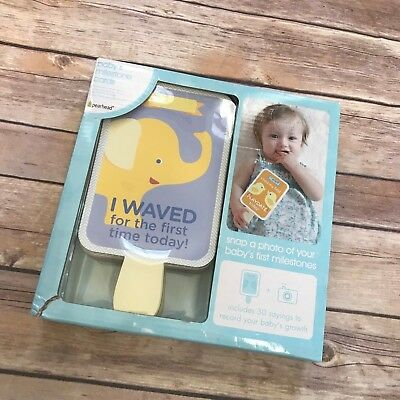 Pearhead NEW NIB Baby's Milestone Cards Photo Prop Sharing Pictures Baby Book