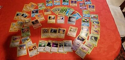 Original Pokemon cards holo included vintage 70+ lot 1st edition cards.